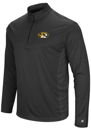 Colosseum Missouri Tigers Mens Black Audible 1/4 Zip Pullover