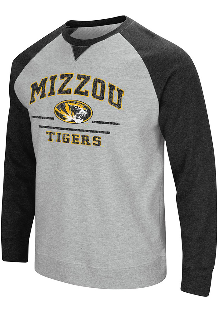 Colosseum Missouri Tigers Mens Grey Turf Fashion Sweatshirt