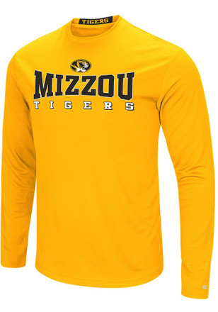 Colosseum Missouri Tigers Mens Gold Streamer Tee