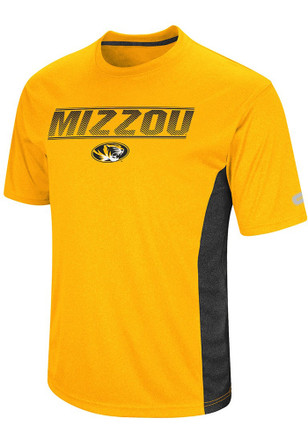 Colosseum Mizzou Tigers Mens Gold Beamer Performance Tee