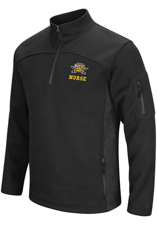 Colosseum Northern Kentucky Norse Mens Black Advantage 1/4 Zip Pullover