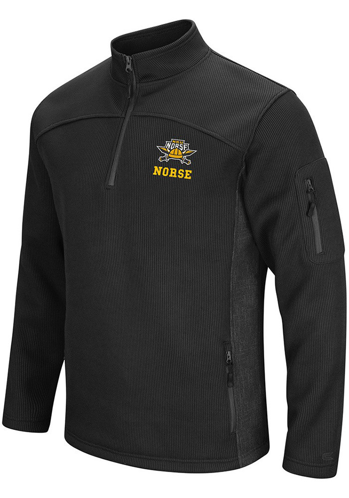 Colosseum Northern Kentucky Norse Mens Black Advantage 1/4 Zip Pullover - Image 1
