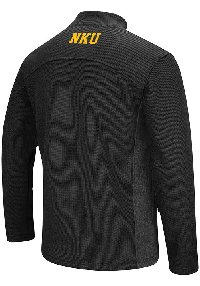 Colosseum Northern Kentucky Norse Mens Black Advantage 1/4 Zip Pullover - Image 2