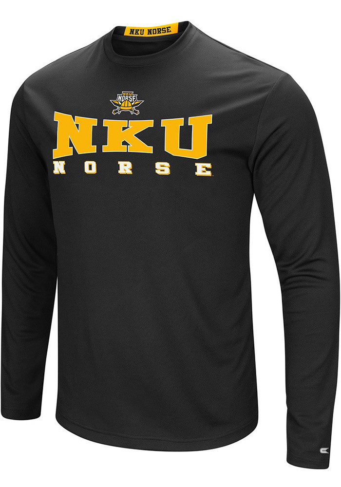 Colosseum Northern Kentucky Norse Mens Black Streamer Long Sleeve T-Shirt - Image 1