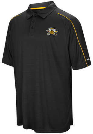 Colosseum Northern Kentucky Norse Mens Black Setter Short Sleeve Polo Shirt