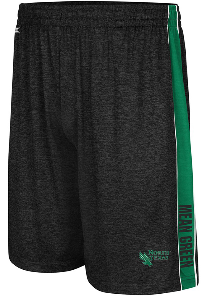 Colosseum North Texas Mean Green Mens Black Wicket Shorts - Image 1