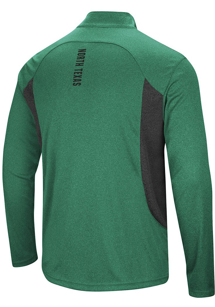 Colosseum North Texas Mean Green Mens Green Audible Long Sleeve 1/4 Zip Pullover - Image 2