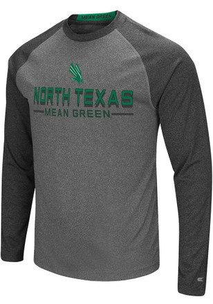 Colosseum North Texas Mean Green Mens Grey Ultra Fashion Tee