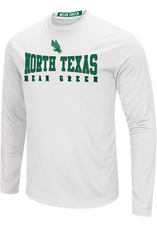 Colosseum North Texas Mean Green Mens White Streamer Tee
