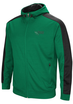 Colosseum North Texas Mean Green Mens Green Setter Zip