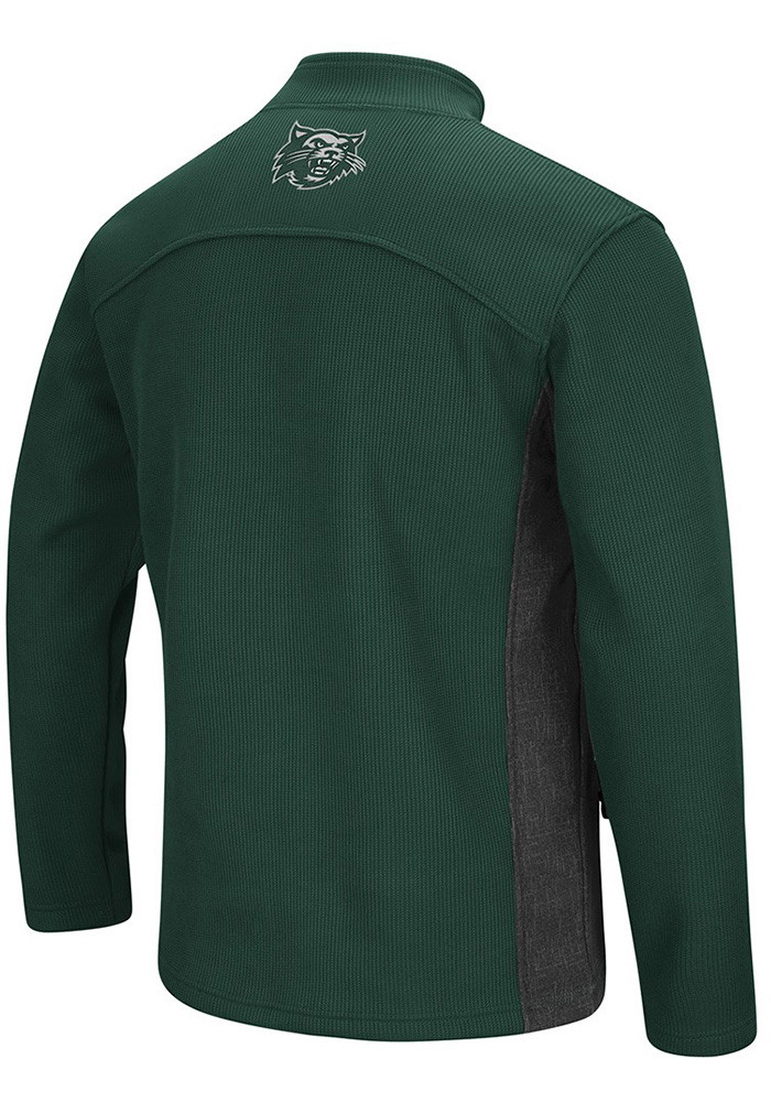 Colosseum Northwest Missouri State Bearcats Mens Green Advantage Long Sleeve 1/4 Zip Pullover - Image 2