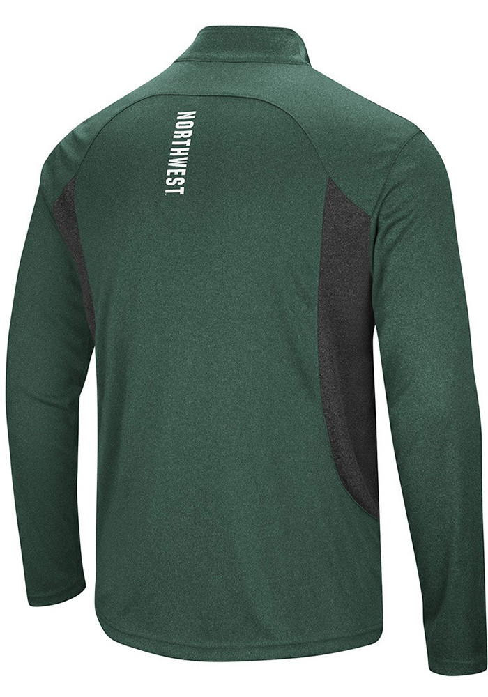 Colosseum Northwest Missouri State Bearcats Mens Green Audible 1/4 Zip Pullover - Image 2