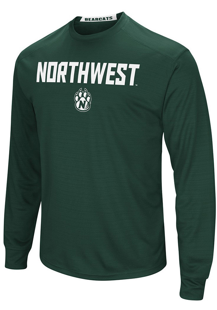 Colosseum Northwest Missouri State Bearcats Mens Green Set Long Sleeve T-Shirt - Image 1