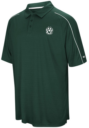 Colosseum Northwest Missouri State Bearcats Mens Green Setter Short Sleeve Polo Shirt