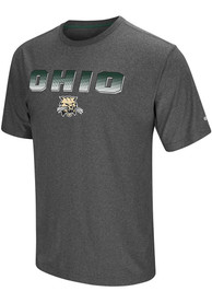 Colosseum Ohio Bobcats Charcoal Sleeper Tee