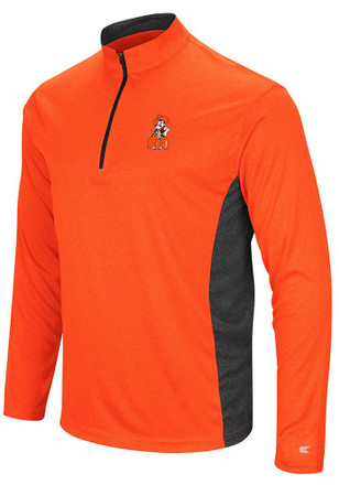 Colosseum Oklahoma State Cowboys Mens Orange Audible 1/4 Zip Pullover
