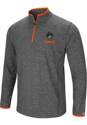 Colosseum Oklahoma State Cowboys Mens Grey Diemert 1/4 Zip Pullover