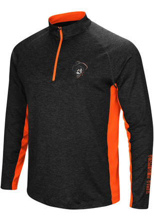 Colosseum Oklahoma State Cowboys Mens Black Upstart 1/4 Zip Pullover