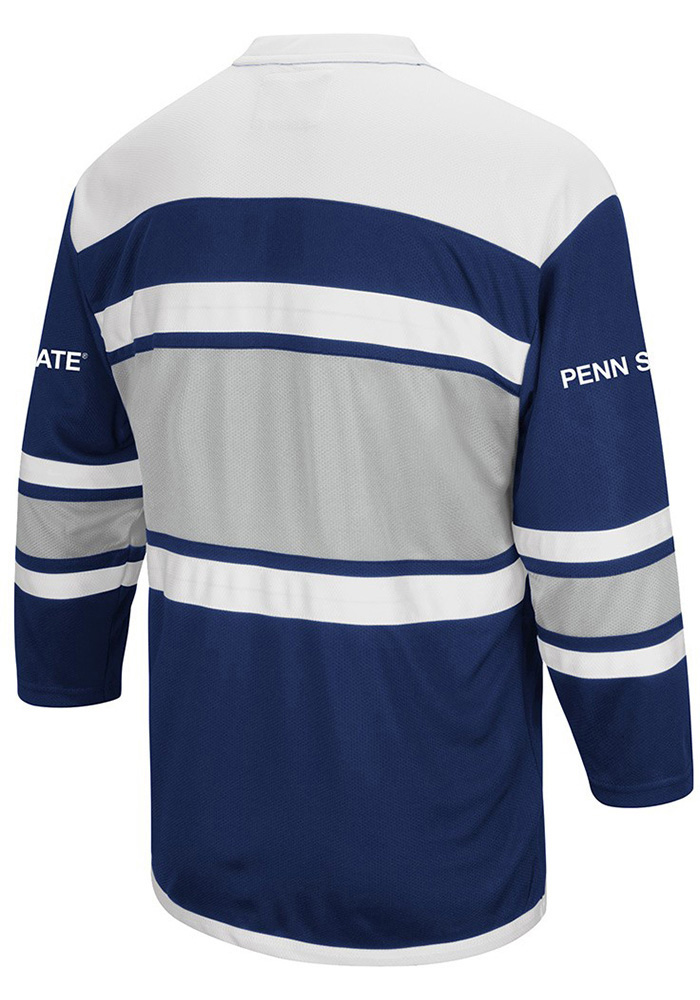 penn state nittany lions mens navy blue open net hockey jersey image 2