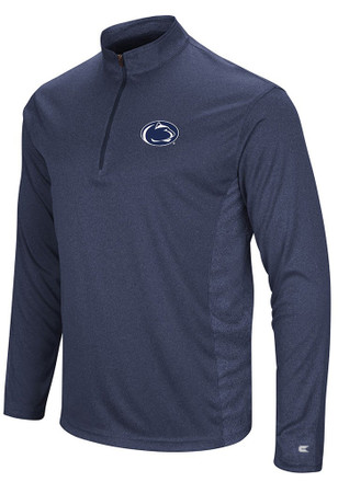 Colosseum Penn State Nittany Lions Mens Navy Blue Audible 1/4 Zip Pullover