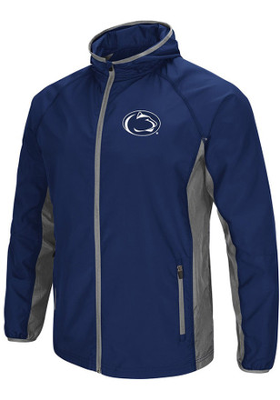 Colosseum Penn State Nittany Lions Mens Navy Blue Archer Zip
