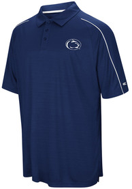 Colosseum Penn State Nittany Lions Mens Navy Blue Setter Short Sleeve Polo Shirt