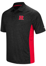 Rutgers Scarlet Knights Colosseum Wedge Polo Shirt - Black