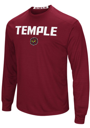 Colosseum Temple Owls Mens Red Setter Tee