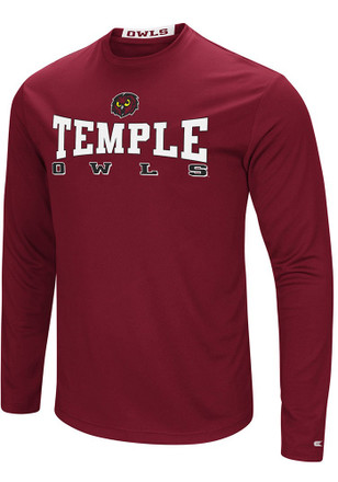 Colosseum Temple Owls Mens Red Streamer Tee
