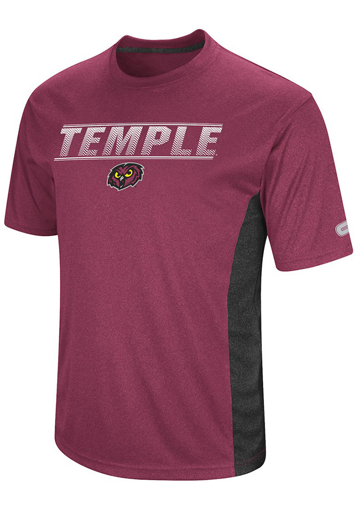 Colosseum Temple Owls Red Beamer Short Sleeve T Shirt - Image 1