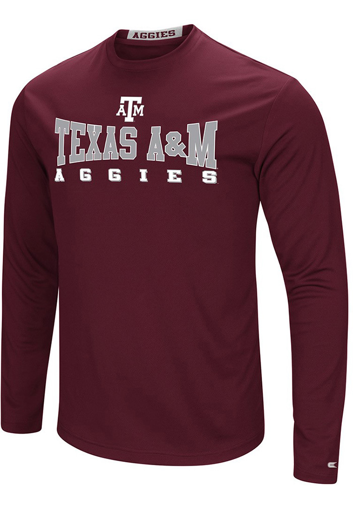 Colosseum Texas A M Aggies Maroon Streamer Long Sleeve T-Shirt - Image 1 69852556b