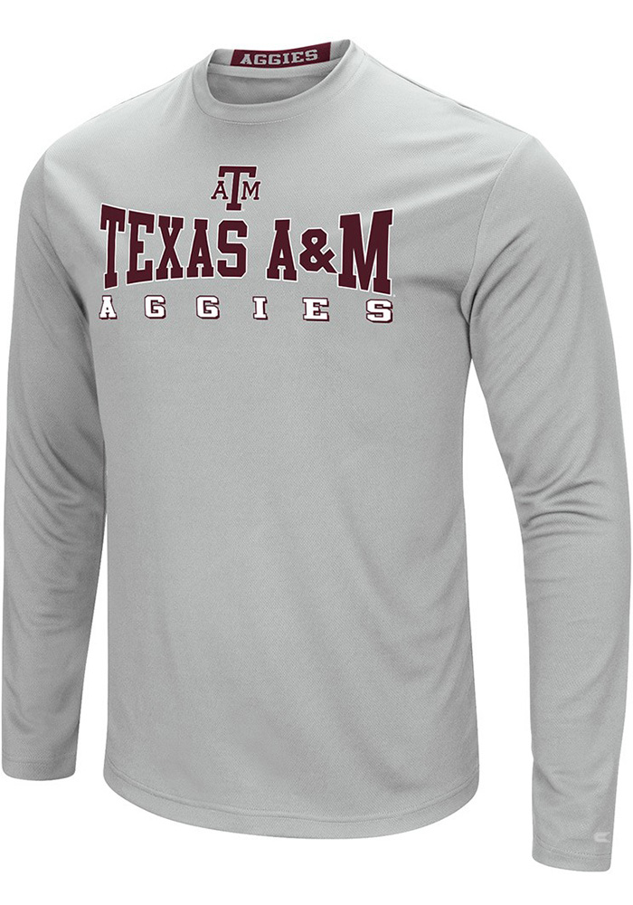 Colosseum Texas A&M Aggies Grey Streamer Long Sleeve T-Shirt - Image 1