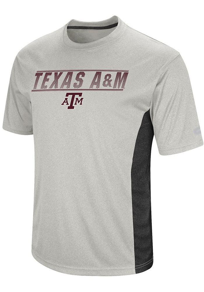 Colosseum Texas A&M Aggies White Beamer Short Sleeve T Shirt - Image 1
