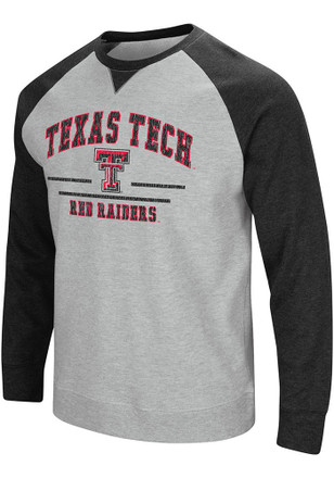 Colosseum Texas Tech Red Raiders Mens Grey Turf Fashion Sweatshirt
