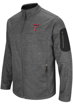 Colosseum Texas Tech Red Raiders Mens Grey Anchor Heavyweight Jacket
