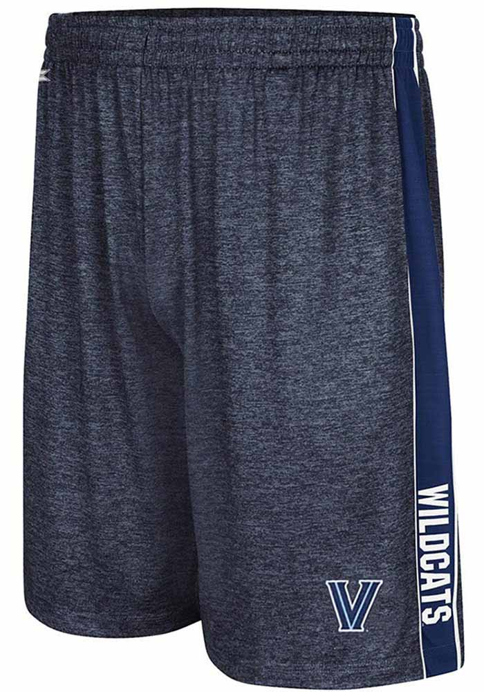 Colosseum Villanova Wildcats Mens Navy Blue Wicket Shorts, Navy Blue, 92% POLYESTER / 8% SPANDEX, Size S
