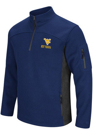 Colosseum West Virginia Mountaineers Mens Navy Blue Advantage 1/4 Zip Pullover