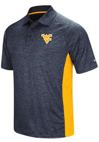 West Virginia Mountaineers Colosseum Wedge Polo Shirt - Navy Blue