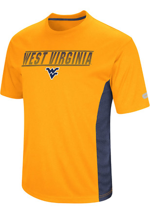 Colosseum West Virginia Mountaineers Mens Yellow Beamer Tee