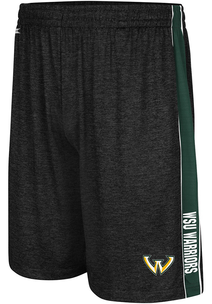 Colosseum Wayne State Warriors Mens Black Wicket Shorts - Image 1