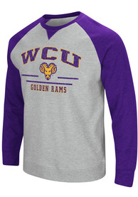 West Chester Golden Rams Colosseum Turf Fashion Sweatshirt - Grey