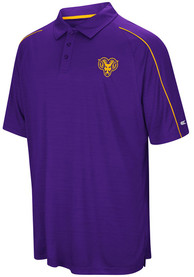 West Chester Golden Rams Colosseum Setter Polo Shirt - Purple