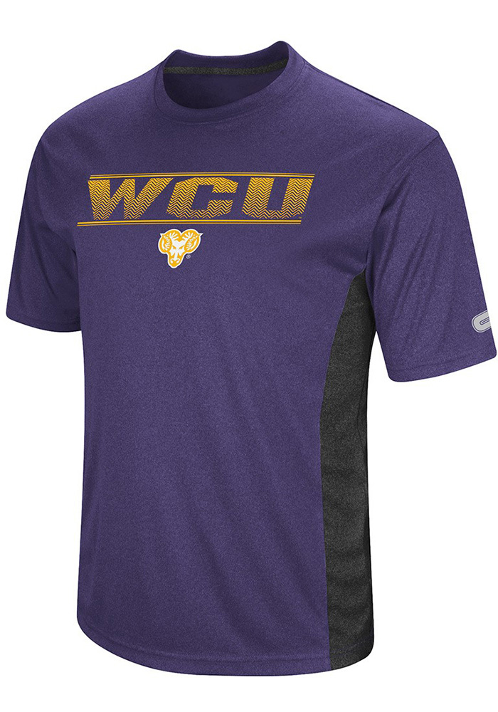 Colosseum West Chester Golden Rams Mens Purple Beamer Short Sleeve T Shirt, Purple, 100% POLYESTER, Size M