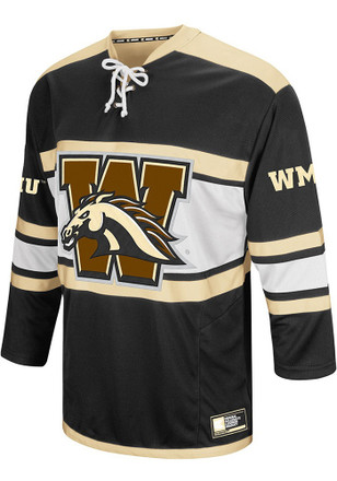 Western Michigan Broncos Mens Black Open Net Jersey