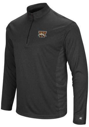 Colosseum Western Michigan Broncos Mens Black Audible 1/4 Zip Pullover