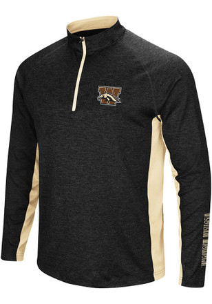 Colosseum Western Michigan Broncos Mens Black Upstart 1/4 Zip Pullover