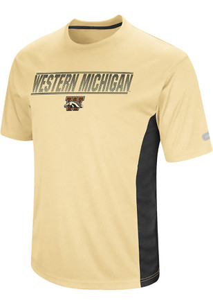 Colosseum Western Michigan Broncos Mens Gold Beamer Tee