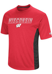 Colosseum Wisconsin Badgers Red Beamer Tee