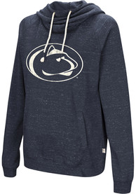 Penn State Nittany Lions Womens Colosseum Ill Go With Hooded Sweatshirt - Navy Blue
