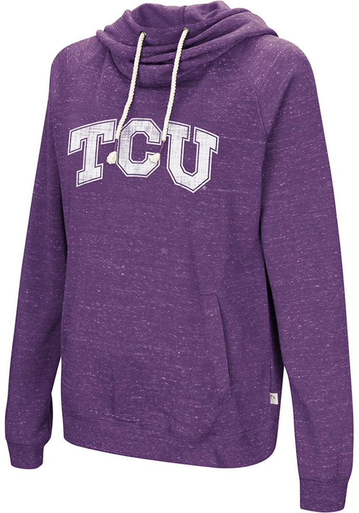 Colosseum TCU Horned Frogs Womens Purple I'll Go With Hooded Sweatshirt - Image 1
